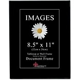 Black Gallery 8.5x11 Standard Picture Frame 6 Pack