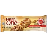 Fiber One Chewy Bars, Oats & Peanut Butter, 1.4 oz., 16 Bars/Box (GEM34887)