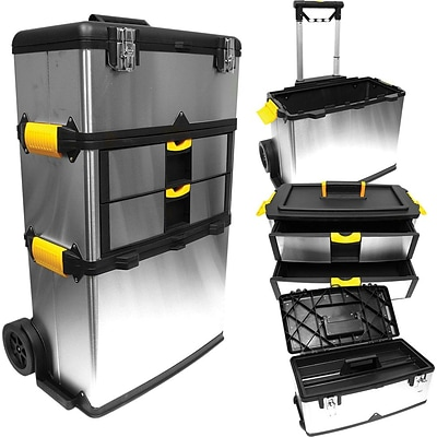Trademark Tools™ Massive and Mobile 3-part Tool Box, 14 L x 22 1/4 W x 33 H