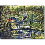Trademark Global David Lloyd Glover Giverny Footbridge Canvas Art, 18 x 24