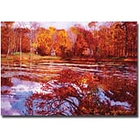 Trademark Global David Lloyd Glover Scarlet Maples Canvas Art, 22 x 32