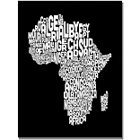 Trademark Global Michael Tompsett Africa Font World Map Canvas Art, 30 x 47