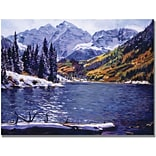 Trademark Global David Lloyd Glover Rocky Mountain Solitude Canvas Art, 24 x 32