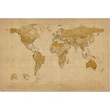 Trademark Global Michael Tompsett Antique World Map Canvas Art, 16 x 24