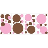 RoomMates® Just Dots Pink/Brown Peel and Stick Wall Decal, 10 x 18