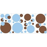 RoomMates® Just Dots Blue/Brown Peel and Stick Wall Decal, 10 x 18