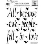 RoomMates® All Because Two People Fell In Love Quote Peel and Stick Wall Decal, 10 x 13