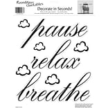 RoomMates® Pause, Relax, Breathe Quote Peel and Stick Wall Decal, 10 x 13