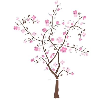 RoomMates® Spring Blossom Tree Peel and Stick Giant Wall Decal, 18 x 40