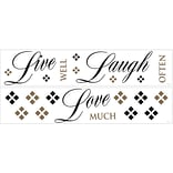 RoomMates® Live, Love, Laugh Quote Peel and Stick Wall Decal, 18 x 40