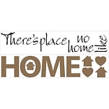 RoomMates® No Place Like Home Quote Peel and Stick Wall Decal, 7 1/2 x 28