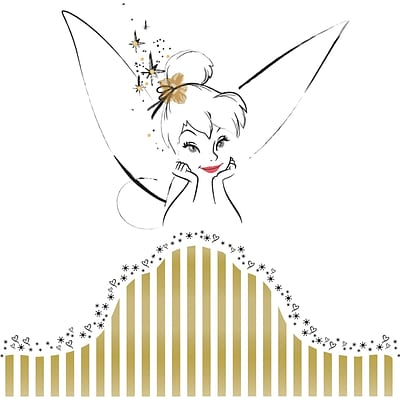 RoomMates® Disney Fairies - Tinker Bell Headboard Peel and Stick Giant Wall Decal, 18 x 40