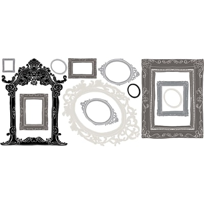 RoomMates® Metallic Black and Silver Frames Peel and Stick Wall Decal, 18 x 40