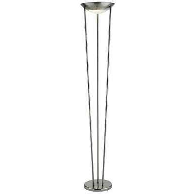 Adesso® 5233-22 Odyssey Tall Floor Lamp, 2 x 150 W, Satin Steel