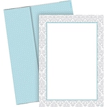 Great Papers® Fresh Slate Damask Designer Flat Card Invitations with Envelopes, 20/Pack