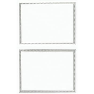 Great Papers® Silver Helix Foil 2-up Postcards with envelopes, 50/Pack