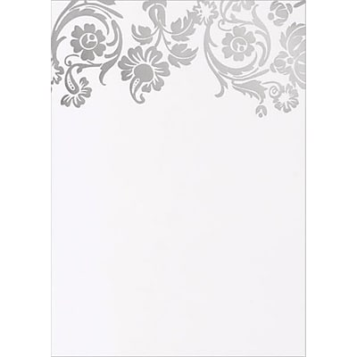 Great Papers® Silver Damask Foil Flat Cards with Envelopes, 10/Pack