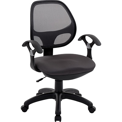 RTA Products Techni Mobili Mid-Back Mesh Task Chair, Black