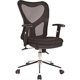 RTA Products Techni Mobili High-Back Mesh Task Chair, Black
