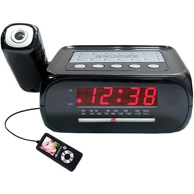 Supersonic® SC-371 Digital Projection Alarm Clock With AM/FM Radio