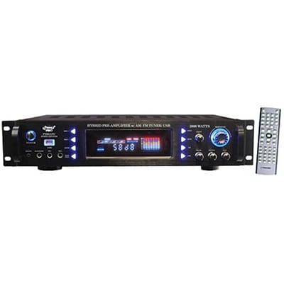 Pyle® P3201ATU Hybrid Pre Amplifier With AM/FM Tuner/ USB, 3000 W
