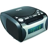 Naxa® NRC-175 Digital Alarm Clock With Analog Tuning AM/FM Radio and CD Player