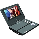 Naxa® NPD-703 Swivel Screen Portable DVD Player With USB/SD/MMC Inputs, 7 TFT LCD