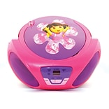 Sakar 56067 Dora The Explorer CD Boombox, Purple/Pink/Red