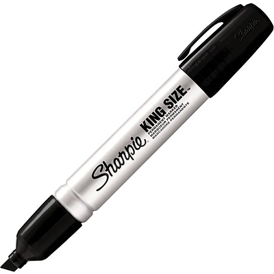 Sharpie King Size® Permanent Marker, Chisel Tip, Black (15001)