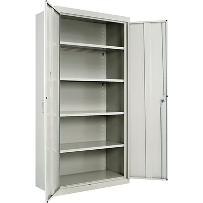 Alera® Steel Storage Cabinet, Assembled, 72Hx36Wx18D, Light Gray