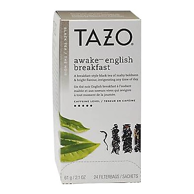 Tazo Awake English Breakfast Tea Bags, 24/Box (20070)