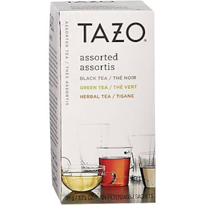 Starbucks® Tazo Flavored Teas, Assorted, 24 Tea Bags/Box (153966)