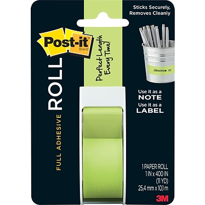 Post-it® Full Adhesive Roll, 1 x 400, Green (2650G)