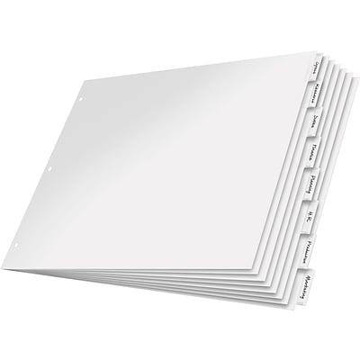Cardinal® 11 x 17 Paper Insertable Dividers, 8-Tab, Clear, 1/St