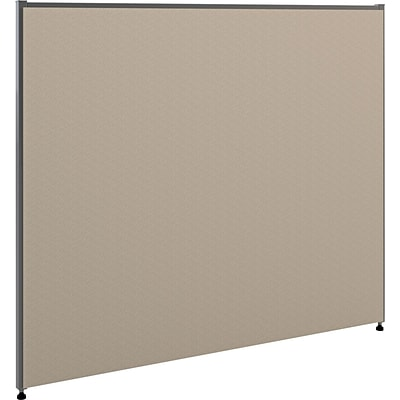 HON Verse Panel, 48W x 42H, Light Gray Finish, Gray Fabric (BSXP4248GYGY)