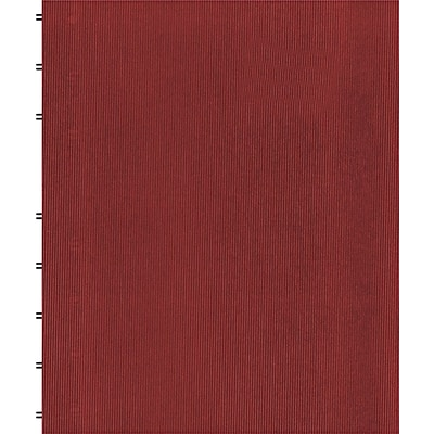 MiracleBind Notebook, College/Margin, 11 x 9-1/16, White, 75 Sheets, Red Cover