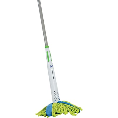 Quickie Lysol Cone Mop Supreme Steel Handle Green/Blue