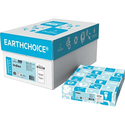 Domtar EarthChoice® Colors Index Paper, 8.5 x 11, Britewhite, 250/PK (81038)