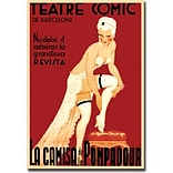 Trademark Global Teatre Comic de Barcelona Gallery Wrapped Canvas Art, 18 x 24