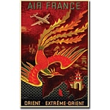 Trademark Global Air France Orient Extreme Gallery Wrapped Canvas Art, 35 x 47