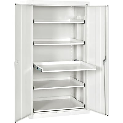 Sandusky Pull Out Tray Shelves Storage, Standard White