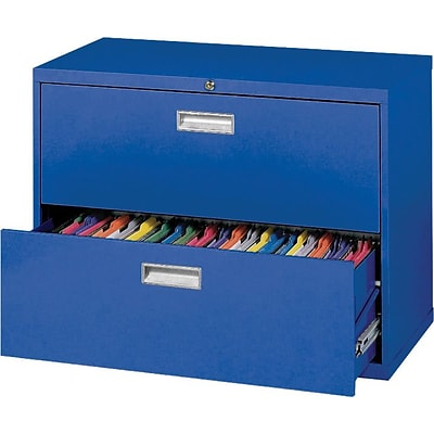 Sandusky 36 Lateral File, 2-Drawer, Blue