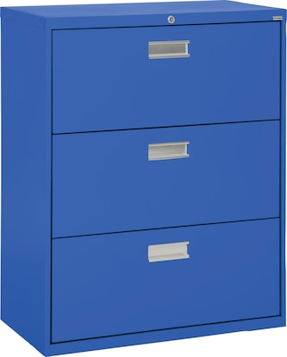 Sandusky 3 Drawer Lateral File Cabinet Blue 36 Lf6a363 06