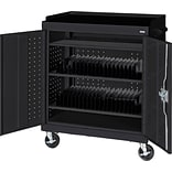 Black Mobile Tablet Storage Cart; 43x36x24