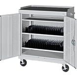 Multi-Granite Mobile Tablet Storage Cart; 43x36x24