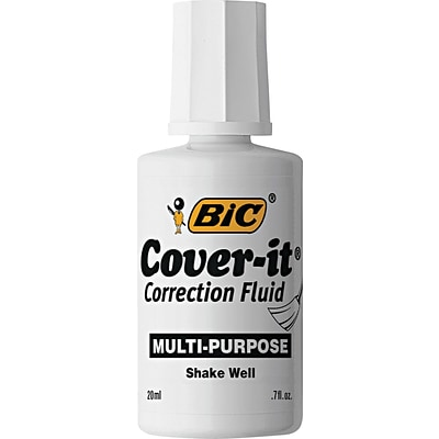 BIC Cover-It Correction Fluid, Dozen (BICWOC12DZ)