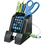 Victor Smart Charge Pencil Cup w/4-Port USB Hub