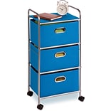 Honey Can Do® 3-Drawer Rolling Cart, Blue