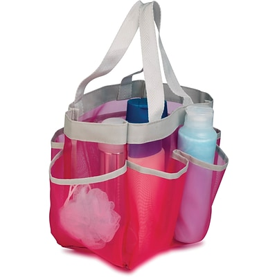 Honey Can Do® 6 Pocket Shower Tote; Pink
