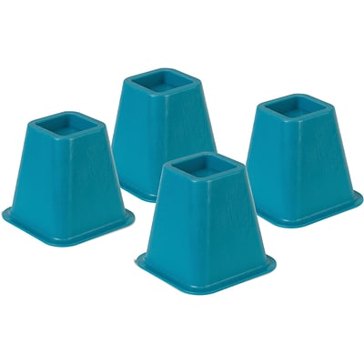 Honey Can Do® Bed Risers, Set of 4, Blue